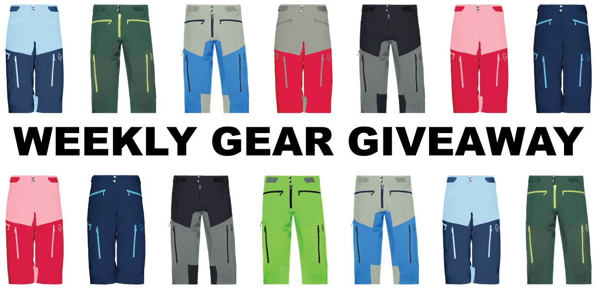 win men's or women's Norrona fjora flex1 mountain biking shorts; Blister Gear Giveaway