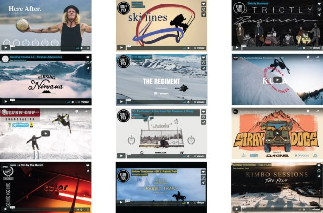 Blister's roundup of the best ski videos from the 2018-2019 season