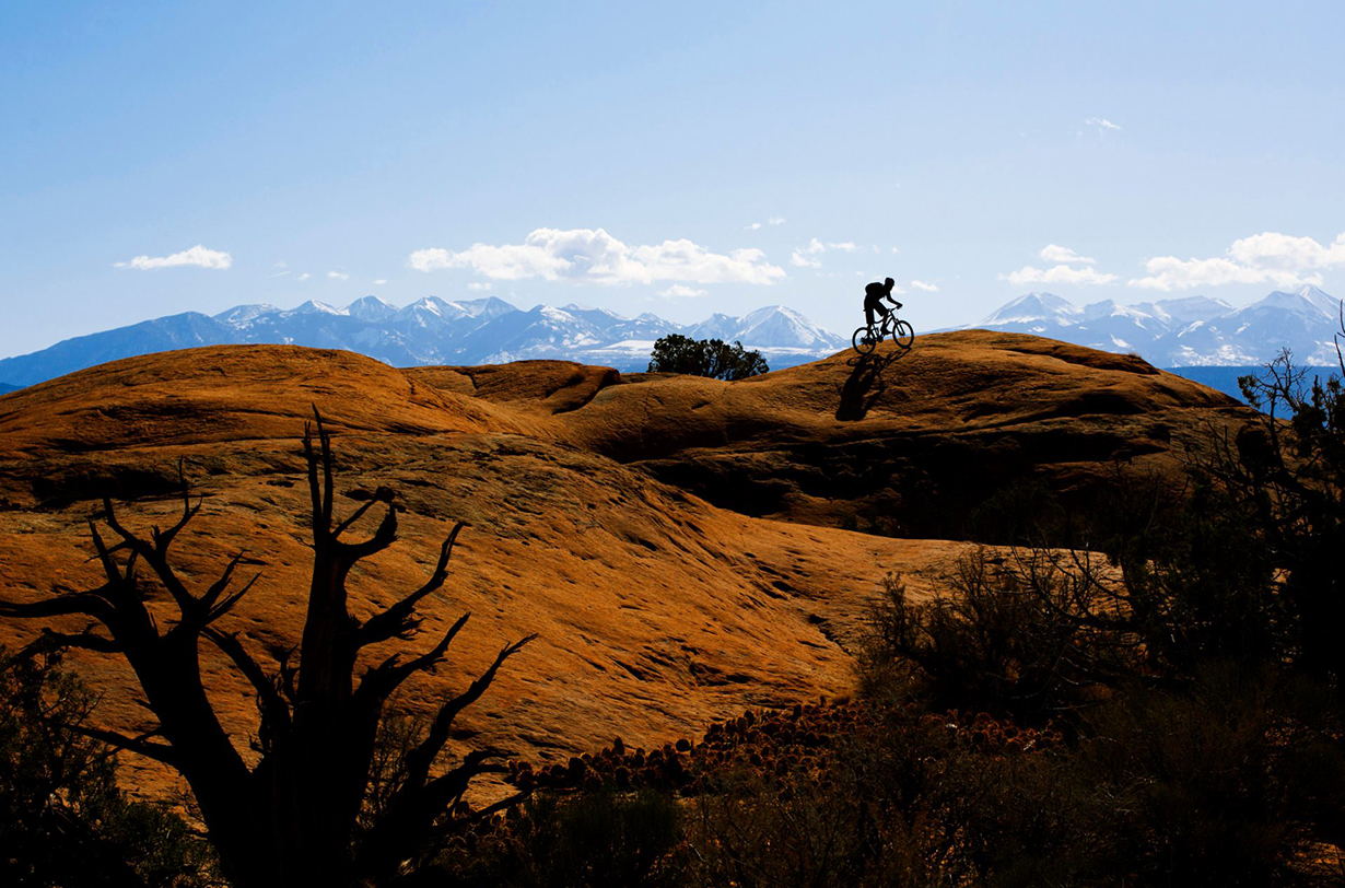 Blister partners with 57 Hours to plan a mountain biking and climbing trip to Moab.