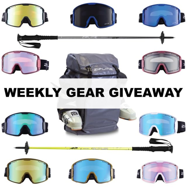 win Zipline goggles, poles, & a backpack; Blister Gear Giveaway