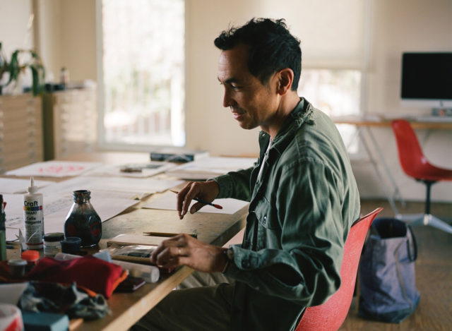 Geoff McFetridge goes on the Blister Podcast to discuss designing artwork for Beastie Boys, Pharrell Williams, Spike Jonez and Rick Rubin, and companies ranging from Patagonia, Nike, the New York Times, Oreo, and many more; designing skateboards; skateboarding vs. skiing vs. snowboarding culture; telemark skiing; and more