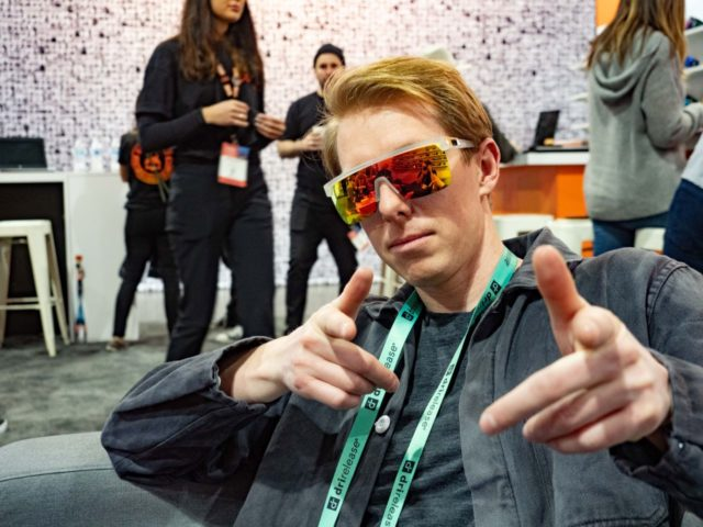 Sam Shaheen at the Winter Outdoor Retailer 2020
