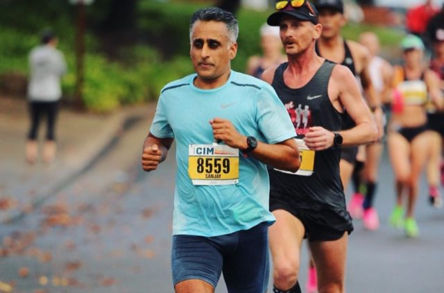 Sanjay Rawal goes on Blister's Off The Couch podcast to discuss running the California International Marathon, the concepts of running dumb; training slow; finding joy through exertion, and much more.