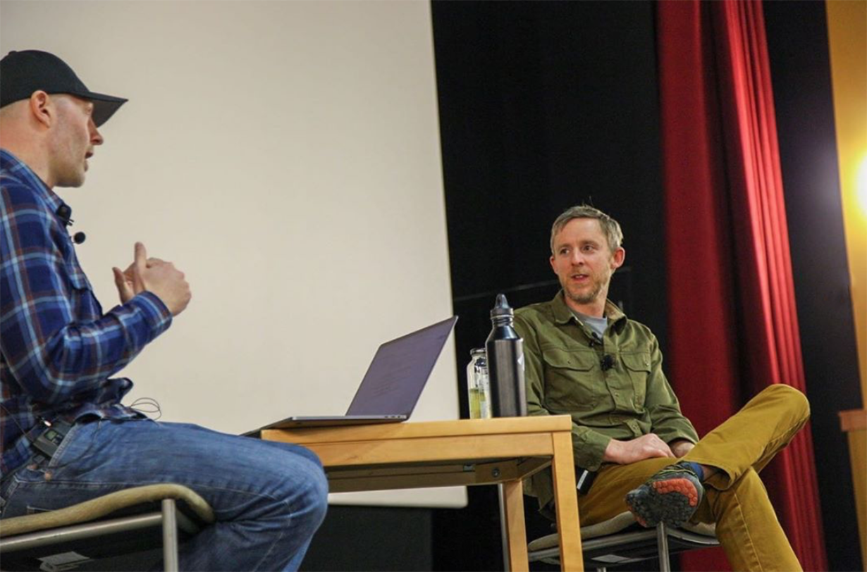 Tommy Caldwell presents at the Blister Speaker Series at Western Colorado University in Gunnison, CO.