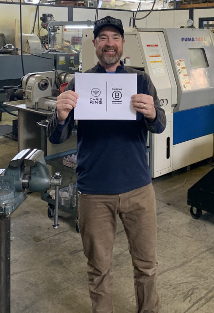 Chris King Precision Component's Kirby Bedsaul goes on Blister's Bikes & Big Ideas podcast to discuss how and why Chris King became a certified B Corp