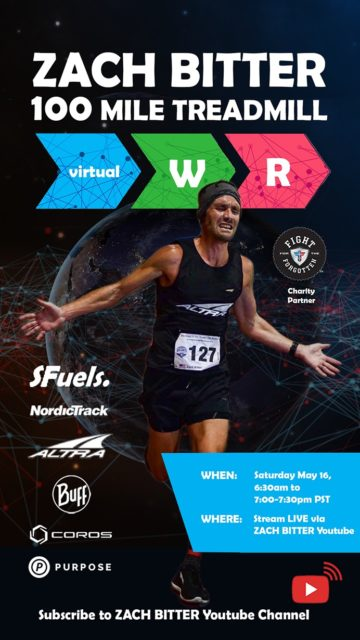 Watch Live: Zach Bitter's 100-Mile Treadmill World Record (MAY 16), BLISTER