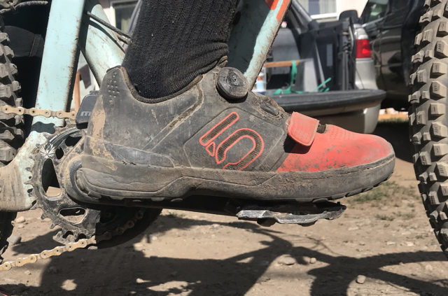 Dylan Wood reviews the Five Ten Kestrel Pro Boa clipless mountain bike shoe for Blister in Gunnison & Crested Butte, Colorado