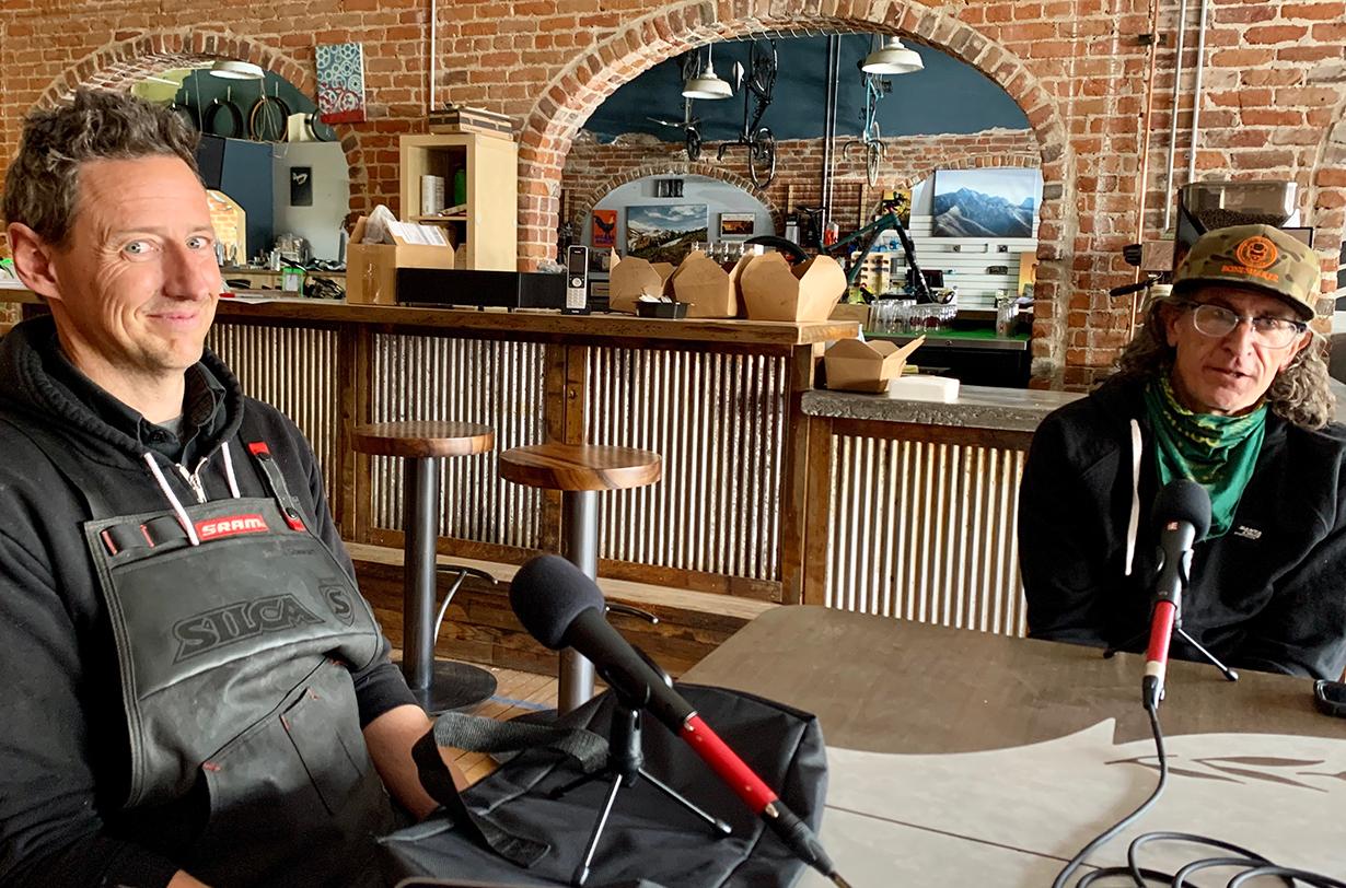 Simon Stewart & Joe Parkin of Buena Vista Bike Company discuss on Blister's Bikes & Big Ideas podcast what it's like running a bike shop, mountain biking and COVID-19, & more