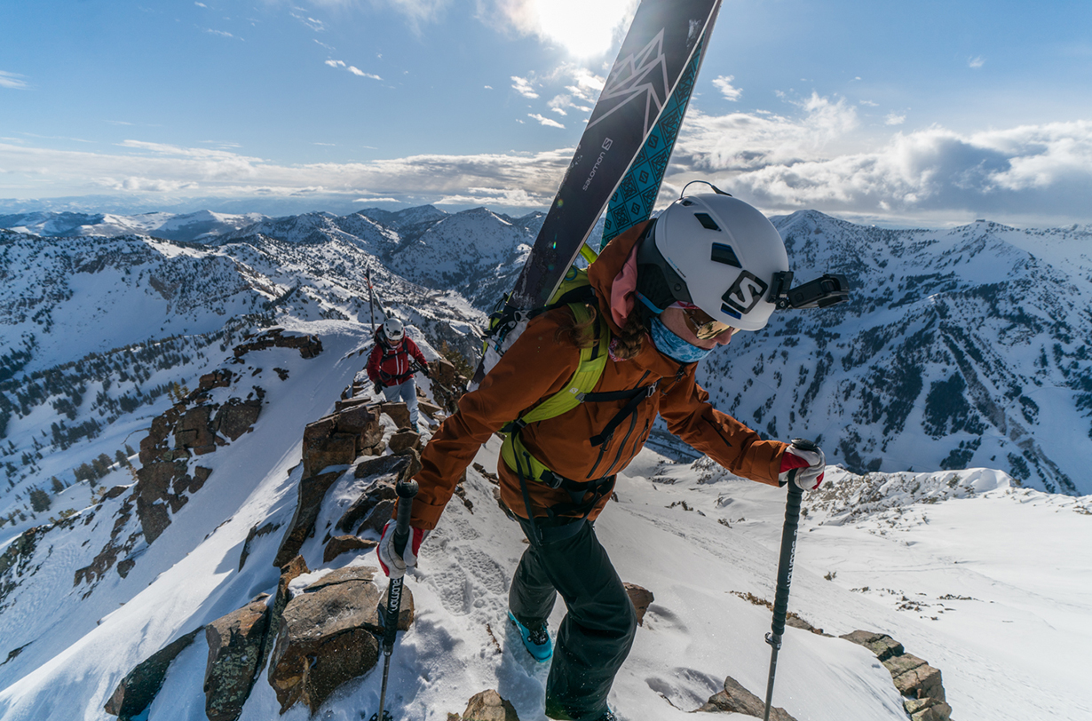 Mali Noyes and Lani Bruntz go on the Blister Podcast to discuss their winter attempt of the WURL. (photo by Adam Clark)