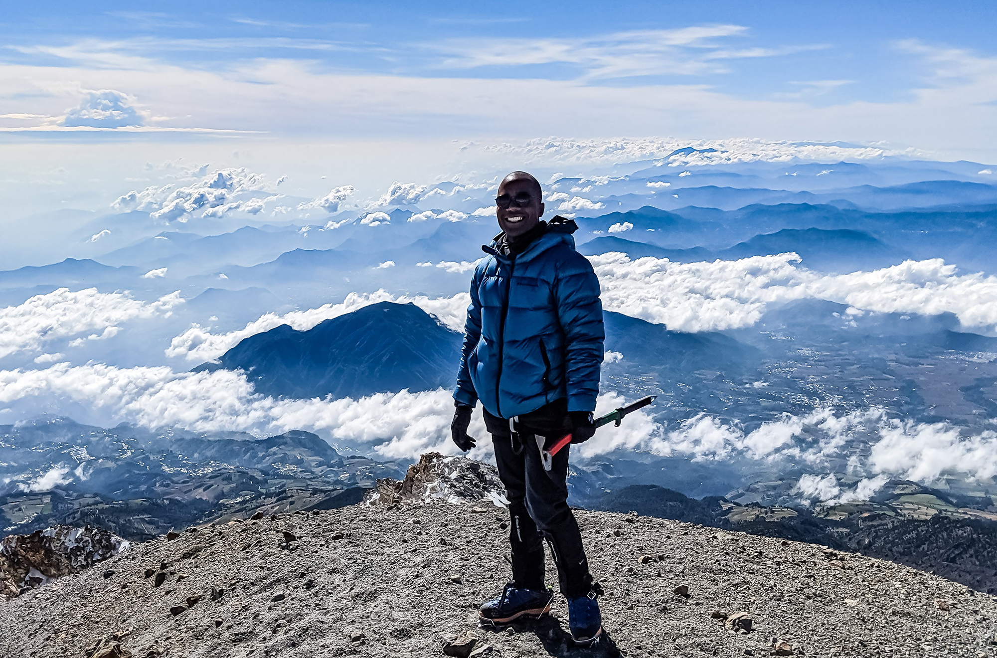 Andrew Alexander King goes on the Blister Podcast to discuss his Between Worlds project, trying to become the first African American to climb the highest mountain and volcano on each continent, and much more