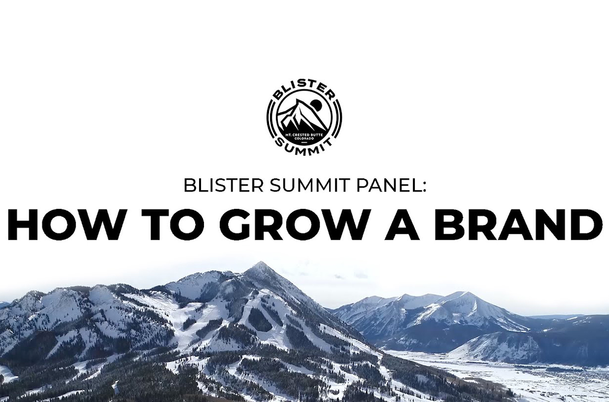 Blister Summit Panel: The founders of Black Crows (Camille Jaccoux), Flylow (Dan Abrams), Icelantic (Ben Anderson), and WNDR Alpine (Matt Sterbenz) share their experiences and offer their advice on how to start — and continue to grow — a brand in the outdoor industry.
