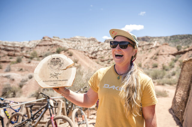 Hannah Bergemann goes on Blister's Bikes & Big Ideas podcast to discuss her rise in mountain bike freeride, the Red Bull Formation event, her work with Transition Bikes, & more