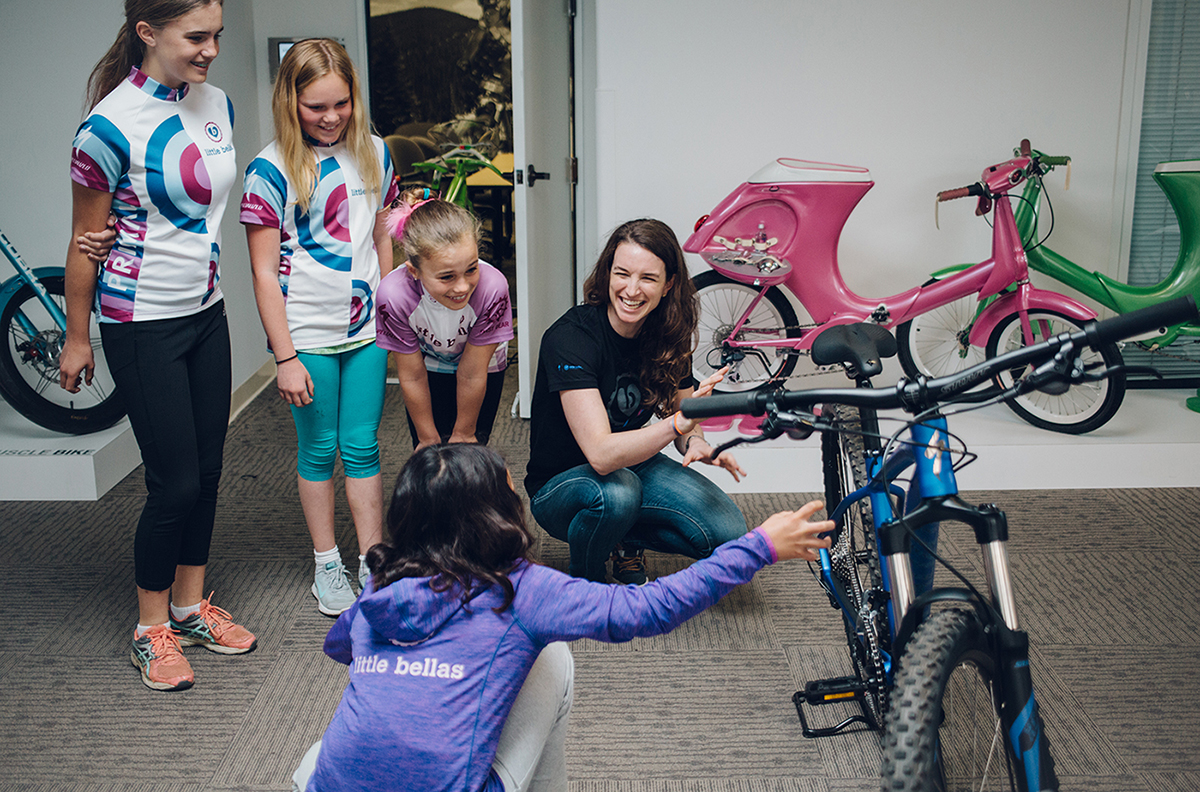 Sabra Davison grew up ski racing and running, but when she got into mountain biking, she saw girls participating at far lower rates — so she decided to do something about it. Sabra (along with her sister, World Cup XC racer and two-time Olympian, Lea) founded Little Bellas to get girls into riding bikes, and develop the confidence to keep with it. On the latest episode of Bikes and Big Ideas, we sat down with Sabra to talk about Little Bellas; how to make skill building fun; removing barriers to participation in what is an expensive sport; and a whole lot more.